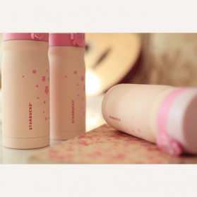 Starbuk Sakura Tumbler Botol Minum 350ml - Pink - 5