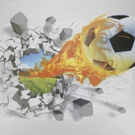 Sticker Wallpaper Dinding Fire Soccer Ball