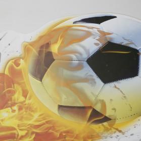 Sticker Wallpaper Dinding Fire Soccer Ball - 2