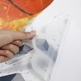 Sticker Wallpaper Dinding Fire Soccer Ball - 3