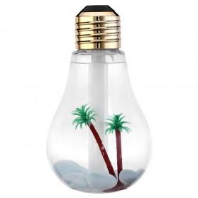 Lampu LED / Lampu Hias - Bulb Mini RGB LED Humidifier USB 400ml - Golden