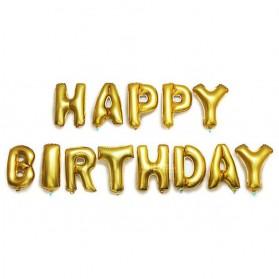 Balon Ulang Tahun Happy Birthday - Golden