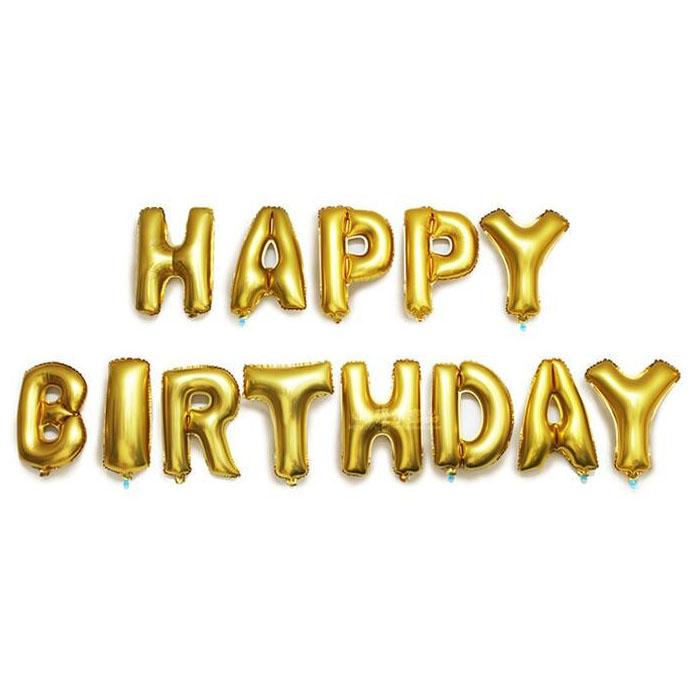 Balon Ulang Tahun Happy Birthday Golden Jakartanotebook Com