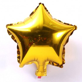 Balon Pesta Model Bintang isi 10 PCS - Golden