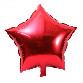 Balon Pesta Model Bintang isi 10 PCS - Red