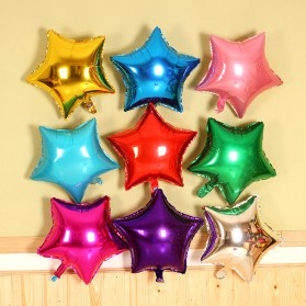 Balon Pesta Model Bintang isi 10 PCS - Red - 2