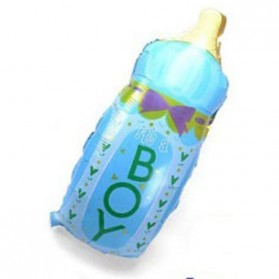 Balon Pesta Model Botol Susu - Blue