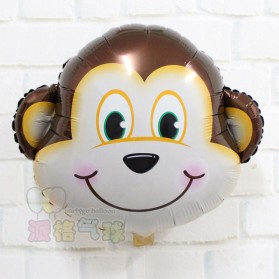 Balon Pesta Model Monkey Head 10 PCS
