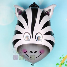 Balon Pesta Model Zebra Head 10 PCS