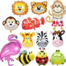 Balon Pesta Model Zebra Head 10 PCS - 2