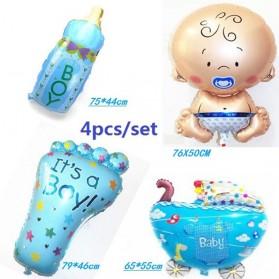 Balon Pesta Model Kaki Bayi 10 PCS - Blue - 5