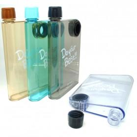 Memobottle Botol Minum Flat 380ml - Clear - Black - 2