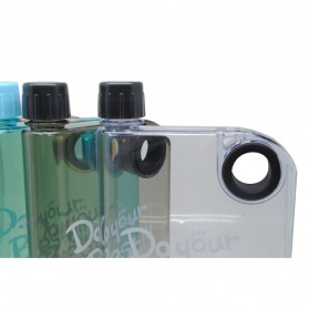 Memobottle Botol Minum Flat 380ml - Clear - Black - 3