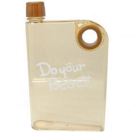 Memobottle Botol Minum Flat 380ml - Clear - Brown
