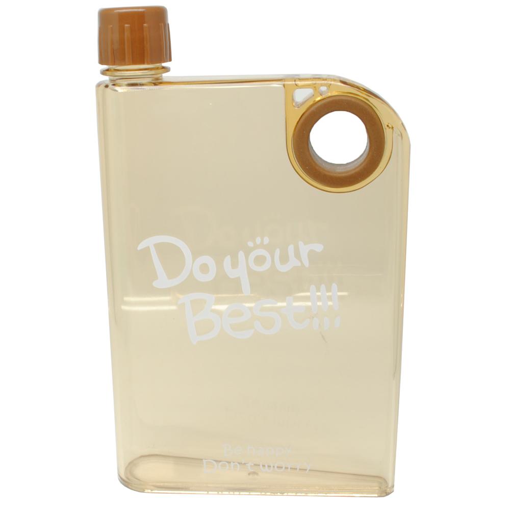memobottle botol minum flat 380ml clear brown