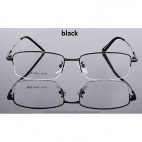 Kacamata Lensa Bening Memory Alloy Frame - Black