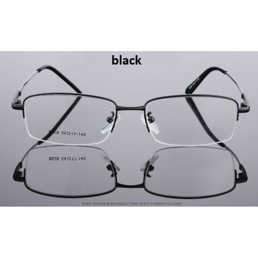... XinQiMei Kacamata Lensa Bening Memory Alloy Frame - Black - 1 ... 9067e82f4b