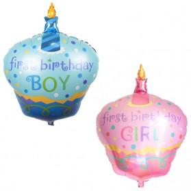 Balon Pesta Model Kue Ulang Tahun - 10 PCS - Blue - 2