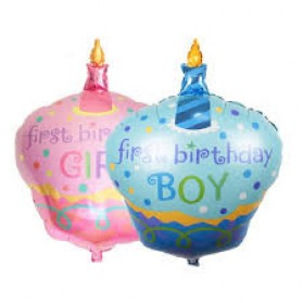 Balon Pesta Model Kue Ulang Tahun - 10 PCS - Blue - 3