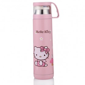 Botol Thermos Kartun Stainless Steel 350ML - Pink