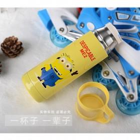 Botol Thermos Kartun Stainless Steel 350ML - Blue - 9