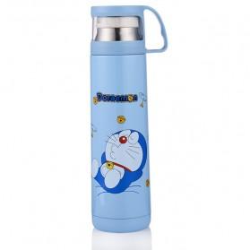 Botol Thermos Kartun Stainless Steel 500ML - Blue