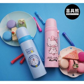 Botol Thermos Lucu Stainless Steel 500ML - Pink - 2