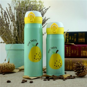 Botol Thermos Fruit Stainless Steel 500ML - Green
