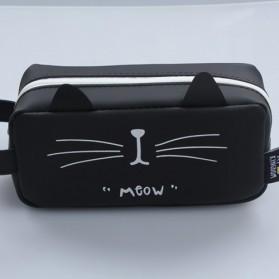 Kotak Pensil Cute Kawaii - Black