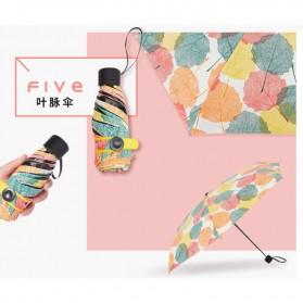 Fancytime Payung Mini Anti UV Umbrella - 6K - White/Red - 4