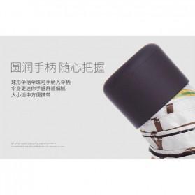 Fancytime Payung Mini Anti UV Umbrella - 6K - White/Red - 8