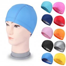Topi Renang Elastis Anti Air - Blue