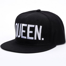 Topi Baseball Snapback QUEEN - Black