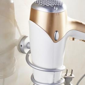 Rak Holder Hair Dryer Aluminium - Silver - 3