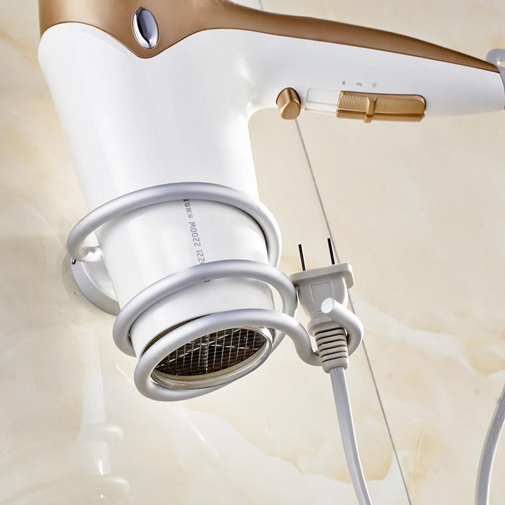 Rak Holder Hair Dryer Aluminium - Silver - 2