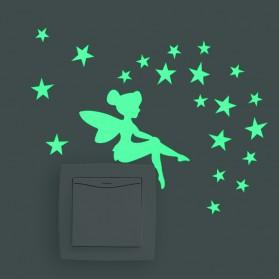 Wallpaper Dinding - Sticker Dekorasi Glow in Dark Model Fairy
