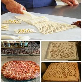 Pisau Cutter Roller Lattice Pastry Pizza - White