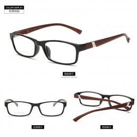 Aidister Kacamata Rabun Jauh Lensa Minus 1.0 - 6801 - Black/Brown