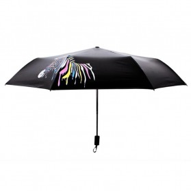 Payung Lipat Color Changing Zebra - Black - 3
