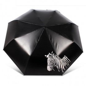 Payung Lipat Color Changing Zebra - Black - 4