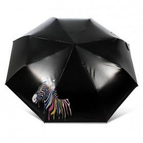 Payung Lipat Color Changing Zebra - Black - 5