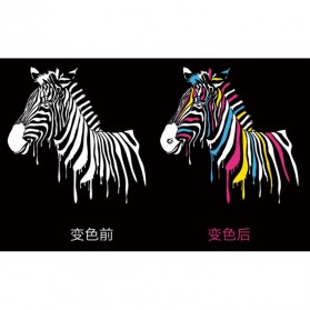 Payung Lipat Color Changing Zebra - Black - 6