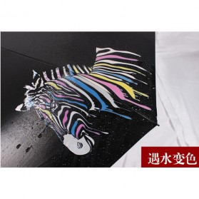 Payung Lipat Color Changing Zebra - Black - 7