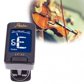 Rowin Tuner Gitar Clip-On - LT-33 - Black