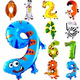 Balon Pesta Ulang Tahun Bentuk Binatang - Model 4 - Multi-Color - 2