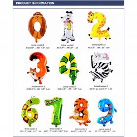Balon Pesta Ulang Tahun Bentuk Binatang - Model 4 - Multi-Color - 3