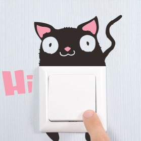 Sticker Wallpaper Dinding Hi Cat - Black