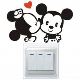 Sticker Wallpaper Dinding Minnie Mickey - Black