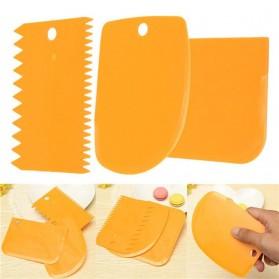 Pisau Pemotong Kue 3PCS - Orange