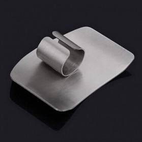 Pelindung Jari Pisau Stainless Steel - Silver - 8
